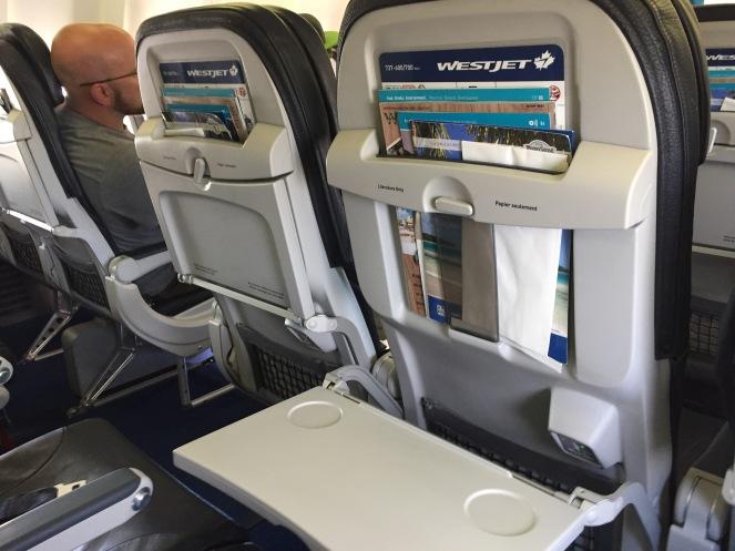 On board WestJet Boeing 737-700
