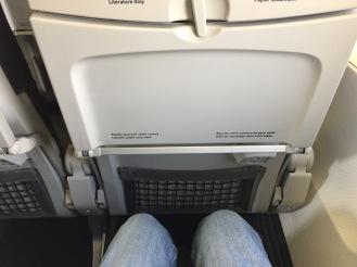 Leg room on board WestJet Boeing 737-700