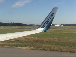 July - Taking off from Victoria, Canada on WestJet