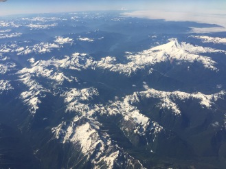 Flying over the Canadian Rocky Mountains