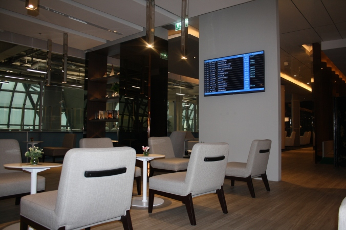 The spacious Miracle First Class Lounge