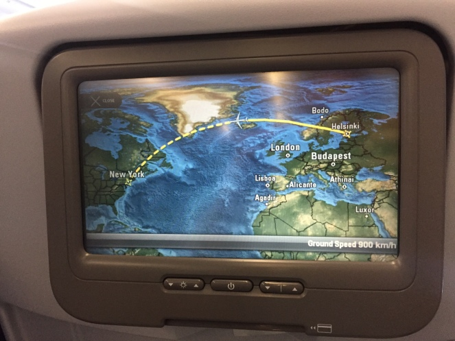 Flight map.