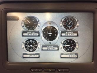 Flight deck screen.